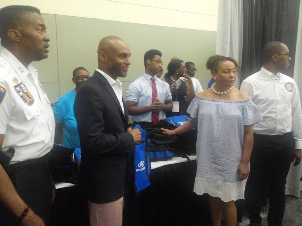 Director Carter at the NAACP Convention Backpack Giveaway